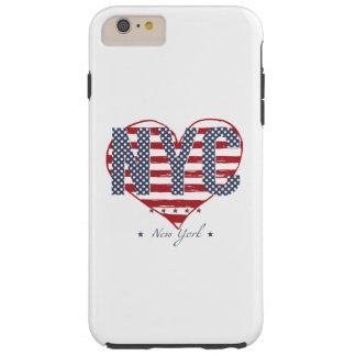 Capa Tough Para iPhone 6 Plus Coração da bandeira americana de NYC
