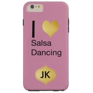 Capa Tough Para iPhone 6 Plus Dança Playfully elegante da salsa do coração de I