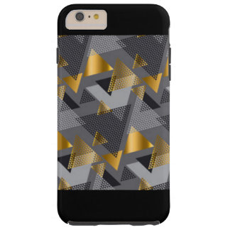 Capa Tough Para iPhone 6 Plus Design preto do teste padrão do abstrato da prata