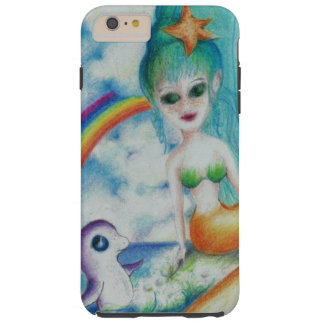 Capa Tough Para iPhone 6 Plus Eu amo sereias!