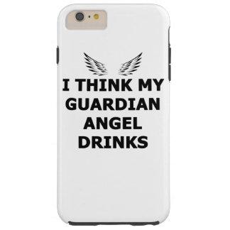 Capa Tough Para iPhone 6 Plus Eu penso minhas bebidas do anjo-da-guarda