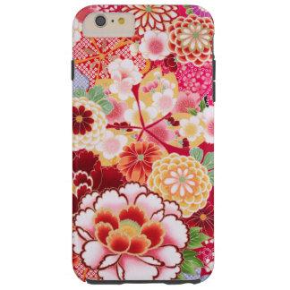 Capa Tough Para iPhone 6 Plus Explosão floral vermelha de Falln