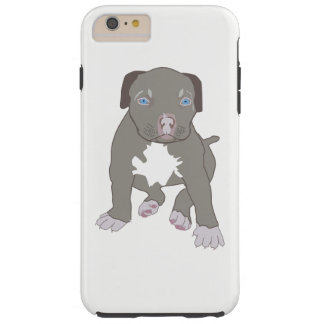 Capa Tough Para iPhone 6 Plus Filhote de cachorro de Pitbull