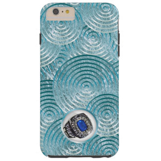 Capa Tough Para iPhone 6 Plus Frio corajoso do aqua com janela