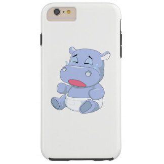 Capa Tough Para iPhone 6 Plus Grito do hipopótamo do bebê