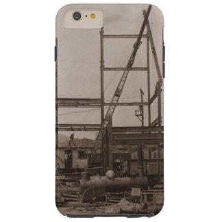 Capa Tough Para iPhone 6 Plus Guindaste 1900's adiantado do aço do ajuste do