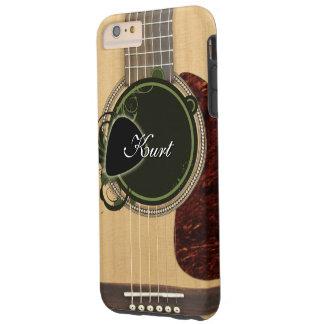 Capa Tough Para iPhone 6 Plus Guitarra acústica clássica com nome feito sob