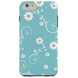 Capa Tough Para iPhone 6 Plus iPhone floral 6/6s do Aqua mais o caso