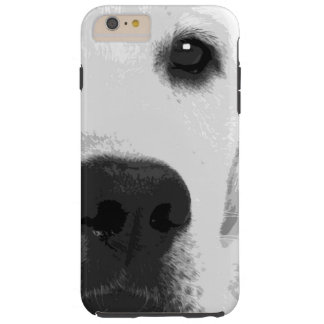 Capa Tough Para iPhone 6 Plus Labrador retriever preto e branco