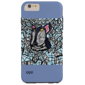 Capa Tough Para iPhone 6 Plus lobo e diamante e cristal