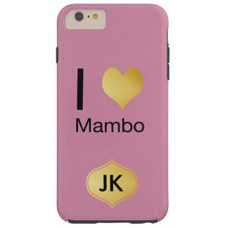 Capa Tough Para iPhone 6 Plus Mambo Playfully elegante do coração de I