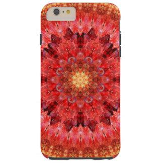 Capa Tough Para iPhone 6 Plus Mandala de cristal do fogo