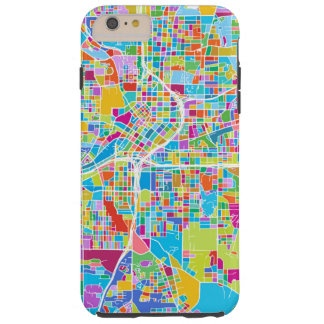 Capa Tough Para iPhone 6 Plus Mapa colorido de Atlanta
