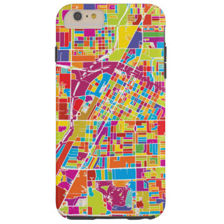 Capa Tough Para iPhone 6 Plus Mapa de Las Vegas colorido, Nevada