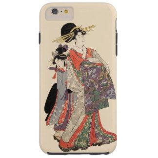 Capa Tough Para iPhone 6 Plus Mulher no quimono colorido (impressão do japonês