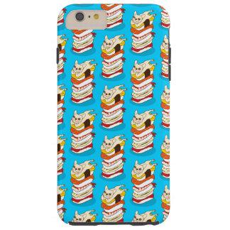 Capa Tough Para iPhone 6 Plus Noite japonesa do sushi para o buldogue francês