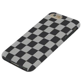 Capa Tough Para iPhone 6 Plus O conselho de verificador preto & cinzento da