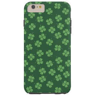 Capa Tough Para iPhone 6 Plus O irlandês celta verde quatro folheou trevos St