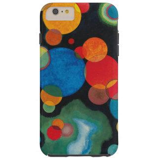 Capa Tough Para iPhone 6 Plus Óleo aprofundado do abstrato do impulso em canvas