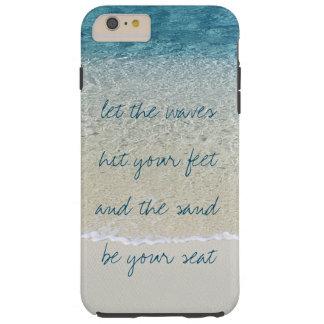 Capa Tough Para iPhone 6 Plus Ondas inspiradas do surf do oceano do azul de