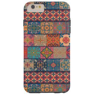 Capa Tough Para iPhone 6 Plus Ornamento de talavera do mosaico do vintage