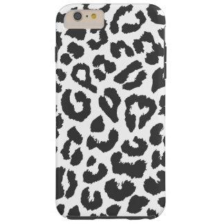 Capa Tough Para iPhone 6 Plus Padrões pretos & brancos da pele animal do