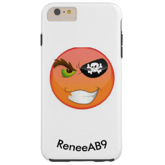 Capa Tough Para iPhone 6 Plus Pirata Emoji Iphone por ReneeAB9