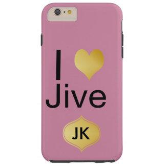 Capa Tough Para iPhone 6 Plus Playfully o coração elegante de I Jive