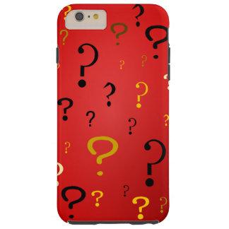 Capa Tough Para iPhone 6 Plus Pontos de interrogação misteriosos