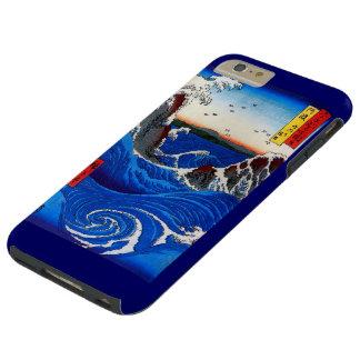Capa Tough Para iPhone 6 Plus Rapids de Navaro, belas artes do japonês de
