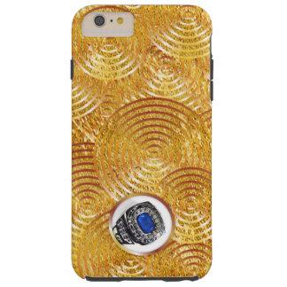 Capa Tough Para iPhone 6 Plus Respingo corajoso do ouro do falso com janela