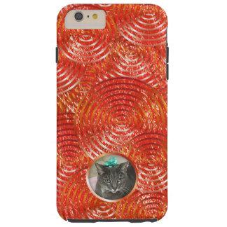 Capa Tough Para iPhone 6 Plus Respingo vermelho chinês corajoso com janela