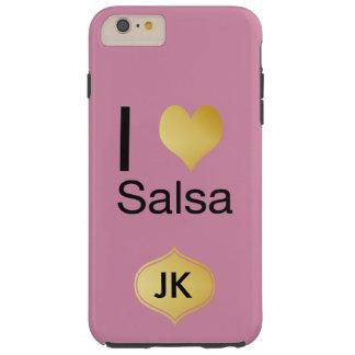 Capa Tough Para iPhone 6 Plus Salsa Playfully elegante do coração de I