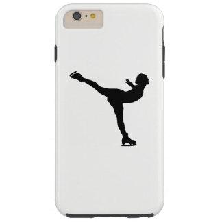 Capa Tough Para iPhone 6 Plus Silhueta da mulher do patinagem no gelo