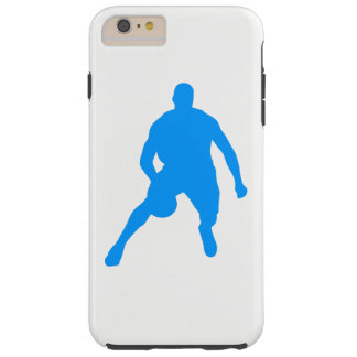 Capa Tough Para iPhone 6 Plus Silhueta do basquetebol