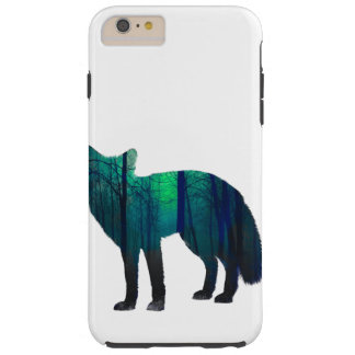Capa Tough Para iPhone 6 Plus Silhueta do Fox - raposa da floresta - arte da