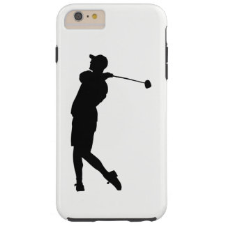 Capa Tough Para iPhone 6 Plus Silhueta do jogador de golfe