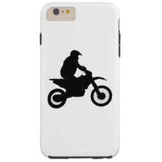 Capa Tough Para iPhone 6 Plus Silhueta do motocross