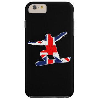 Capa Tough Para iPhone 6 Plus SNOWBOARDER de Union Jack (branco)
