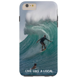 Capa Tough Para iPhone 6 Plus Surfar engraçado da praia do oceano