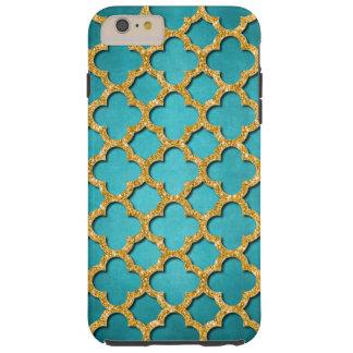 Capa Tough Para iPhone 6 Plus Teste padrão de mosaico brilhante do brilho do