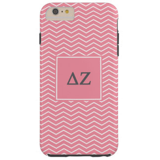 Capa Tough Para iPhone 6 Plus Teste padrão do Zeta | Chevron do delta
