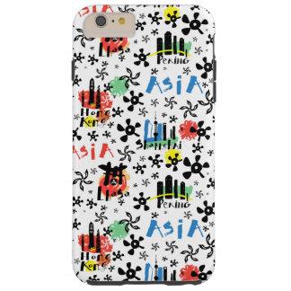 Capa Tough Para iPhone 6 Plus Teste padrão dos símbolos de Ásia |
