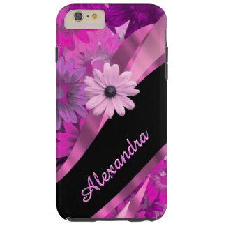 Capa Tough Para iPhone 6 Plus Teste padrão floral cor-de-rosa bonito