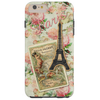 Capa Tough Para iPhone 6 Plus Teste padrão floral cor-de-rosa bonito bonito de