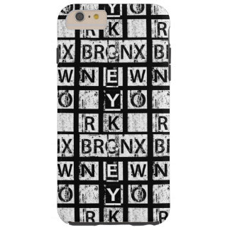 Capa Tough Para iPhone 6 Plus Tipografia do Grunge de Bronx New York |