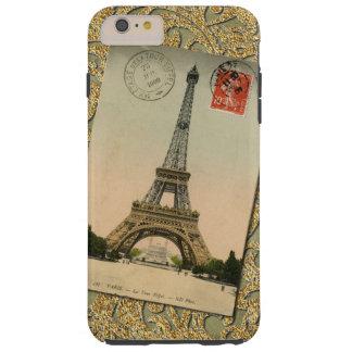 Capa Tough Para iPhone 6 Plus Torre Eiffel chique France de Paris do vintage à
