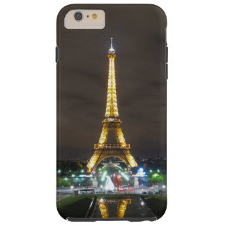 Capa Tough Para iPhone 6 Plus Torre Eiffel na noite, Paris