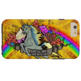 Capa Tough Para iPhone 6 Plus Unicórnio, arco-íris & bacon impressionantes da