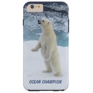 Capa Tough Para iPhone 6 Plus Urso polar ereto